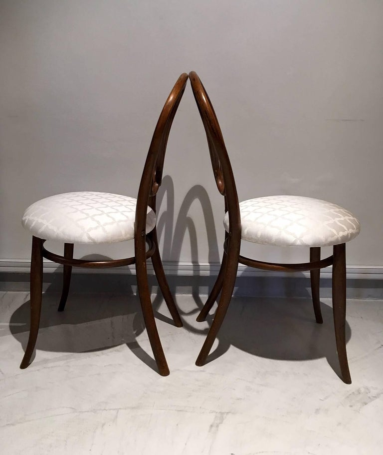 Pair of August Thonet Bentwood Chairs by Thonet Bros In Good Condition For Sale In Madrid, ES