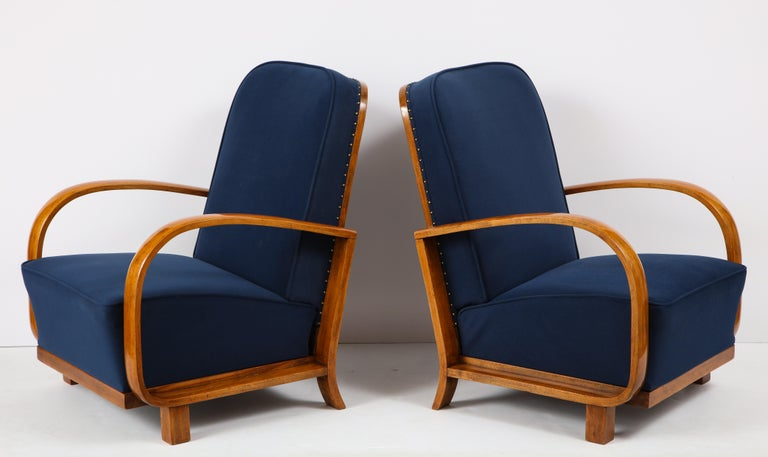 Pair of Austrian Art Deco Armchairs 6