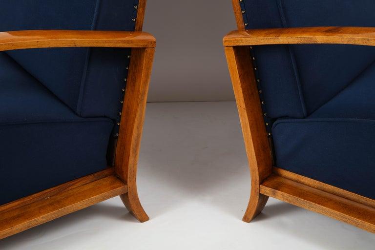 Pair of Austrian Art Deco Armchairs 7