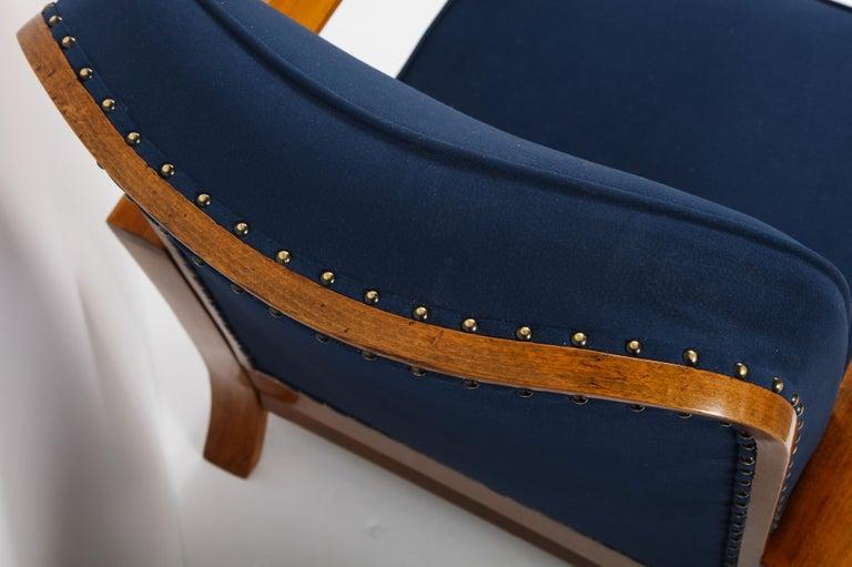 Pair of Austrian Art Deco Armchairs 8