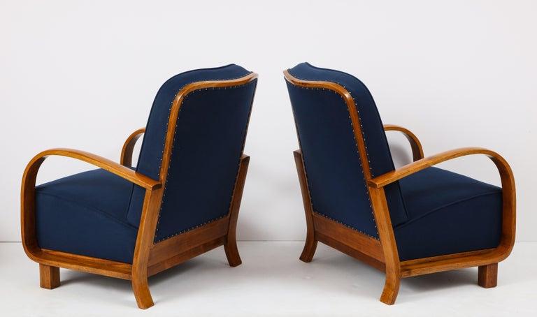 Pair of Austrian Art Deco Armchairs 9