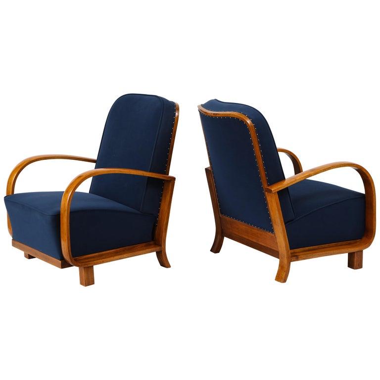 Pair of Austrian Art Deco Armchairs