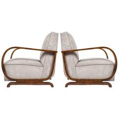 Pair of Austrian Art Deco Period Armchairs