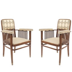 Pair of Austrian Bentwood 'Secessionist' Armchairs