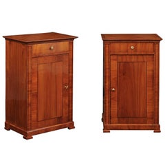 Pair of Austrian Biedermeier Cabinets with Single Drawer and Door, circa 1870