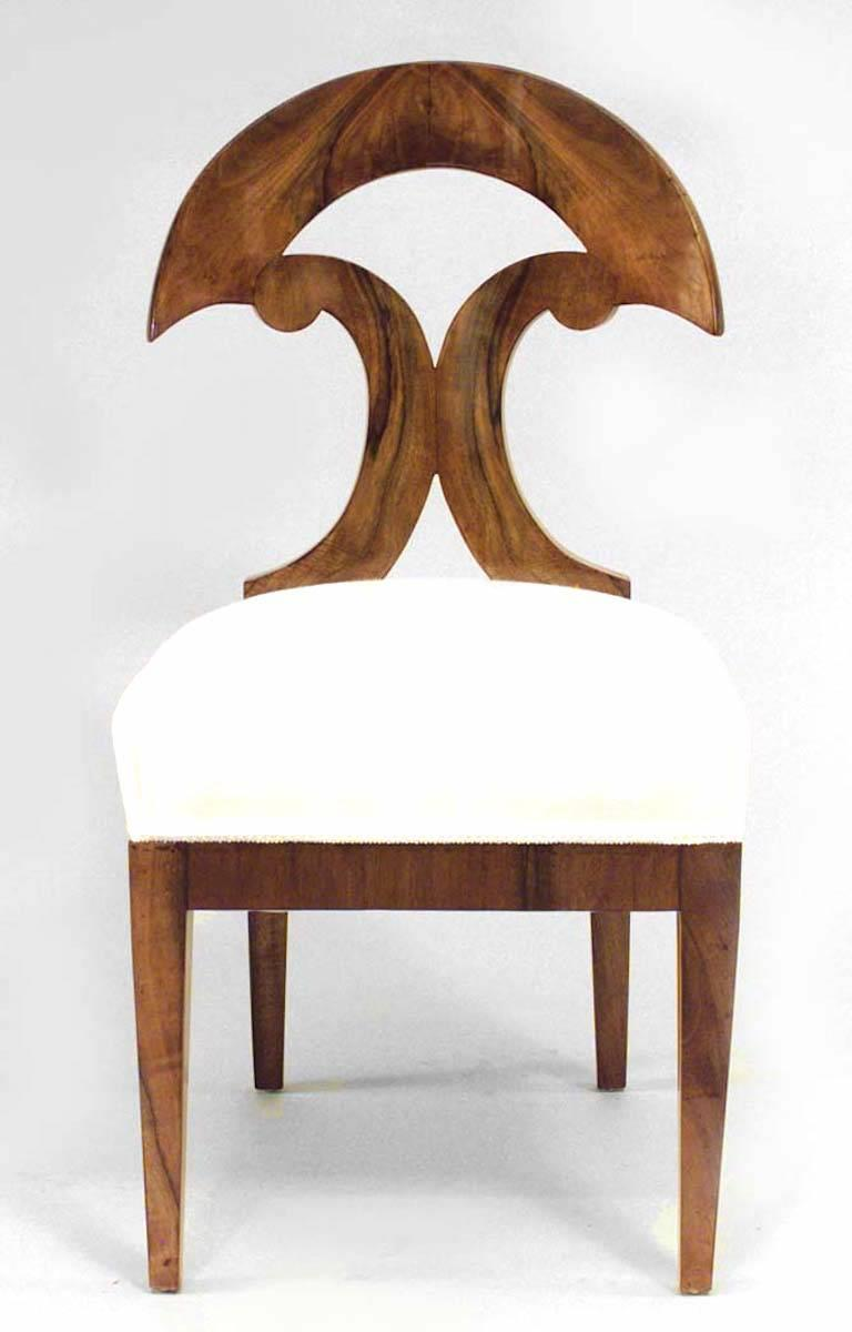 Pair of Austrian Biedermeier Side Chairs In Good Condition For Sale In New York, NY