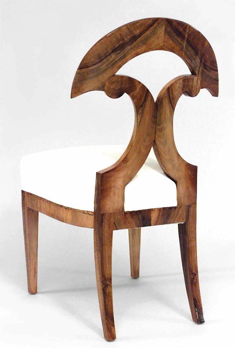 19th Century Pair of Austrian Biedermeier Side Chairs For Sale