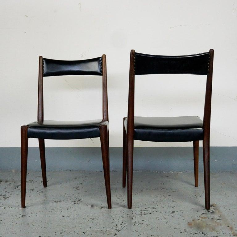 Mid-Century Modern Pair of Austrian Midcentury Beech Dining Chairs by Anna Lülja Praun For Sale