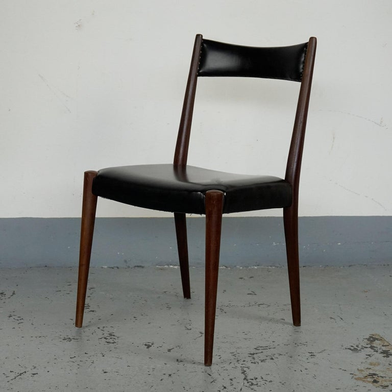 Stained Pair of Austrian Midcentury Beech Dining Chairs by Anna Lülja Praun For Sale