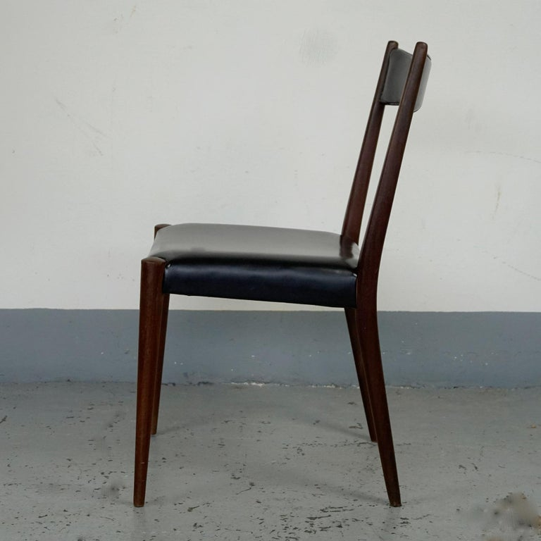 Pair of Austrian Midcentury Beech Dining Chairs by Anna Lülja Praun In Good Condition For Sale In Vienna, AT