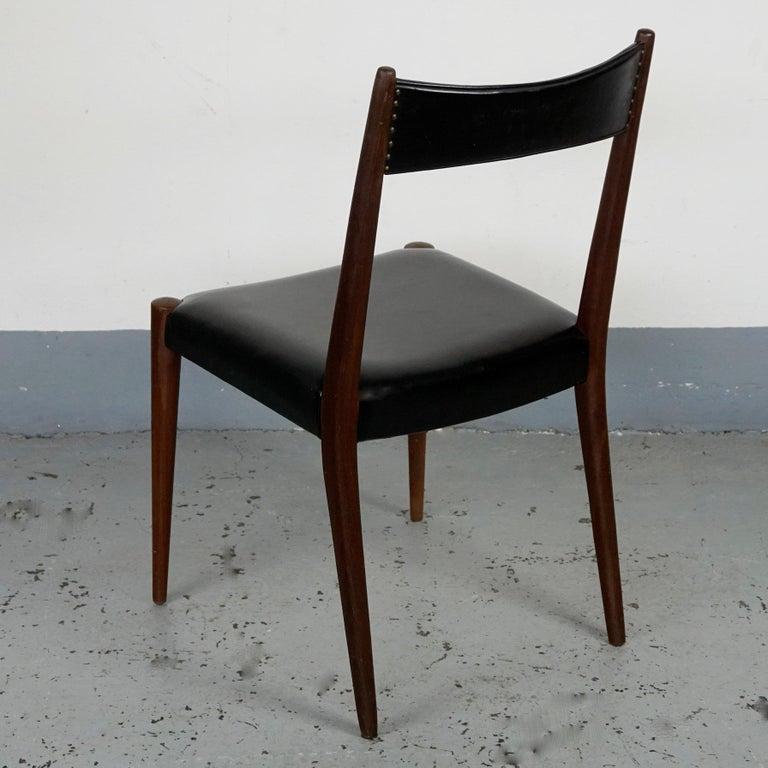 Mid-20th Century Pair of Austrian Midcentury Beech Dining Chairs by Anna Lülja Praun For Sale