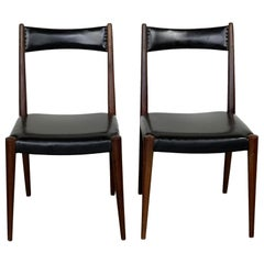 Pair of Austrian Midcentury Beech Dining Chairs by Anna Lülja Praun