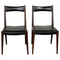 Pair of Austrian Midcentury Beech Dining Chairs by Anna Lülja Praun