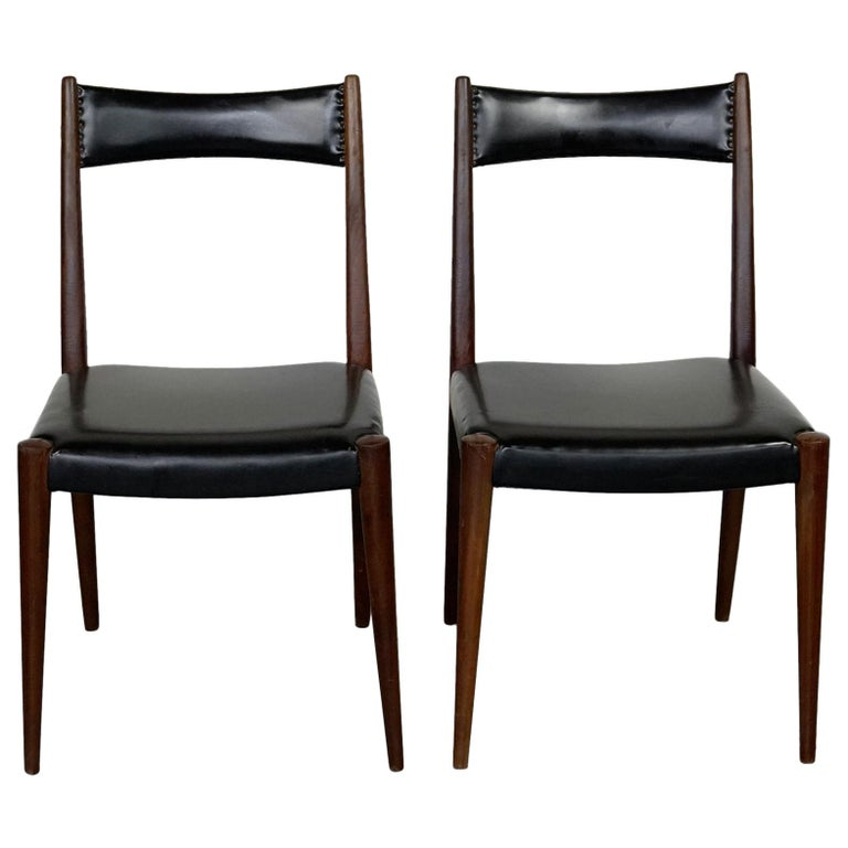 Pair of Austrian Midcentury Beech Dining Chairs by Anna Lülja Praun For Sale
