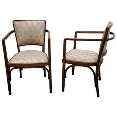 Pair of Austrian Secessionist Side Armchairs by Koloman Moser for J & J Kohn