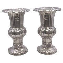 Pair of Austrian Silver Vases