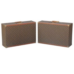 Pair of Authentic Louis Vuitton Luggage Pieces
