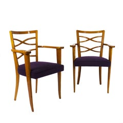 Pair of Auxiliary or Desk Armchairs, Attributed De Coene Frères, Belgium, 1940s