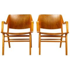 Pair of Ax Armchairs by Hvidt & Mølgaard-Nielsen, Denmark, 1950s