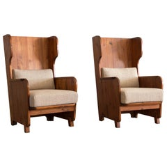 Pair of Axel Einar Hjorth Easy Chairs, Nordiske Kompaniet, 1930s