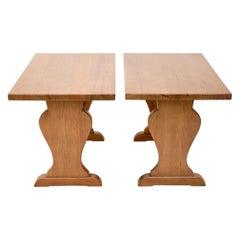 Pair of Axel Einar Hjorth Pine Tables, c. 1932