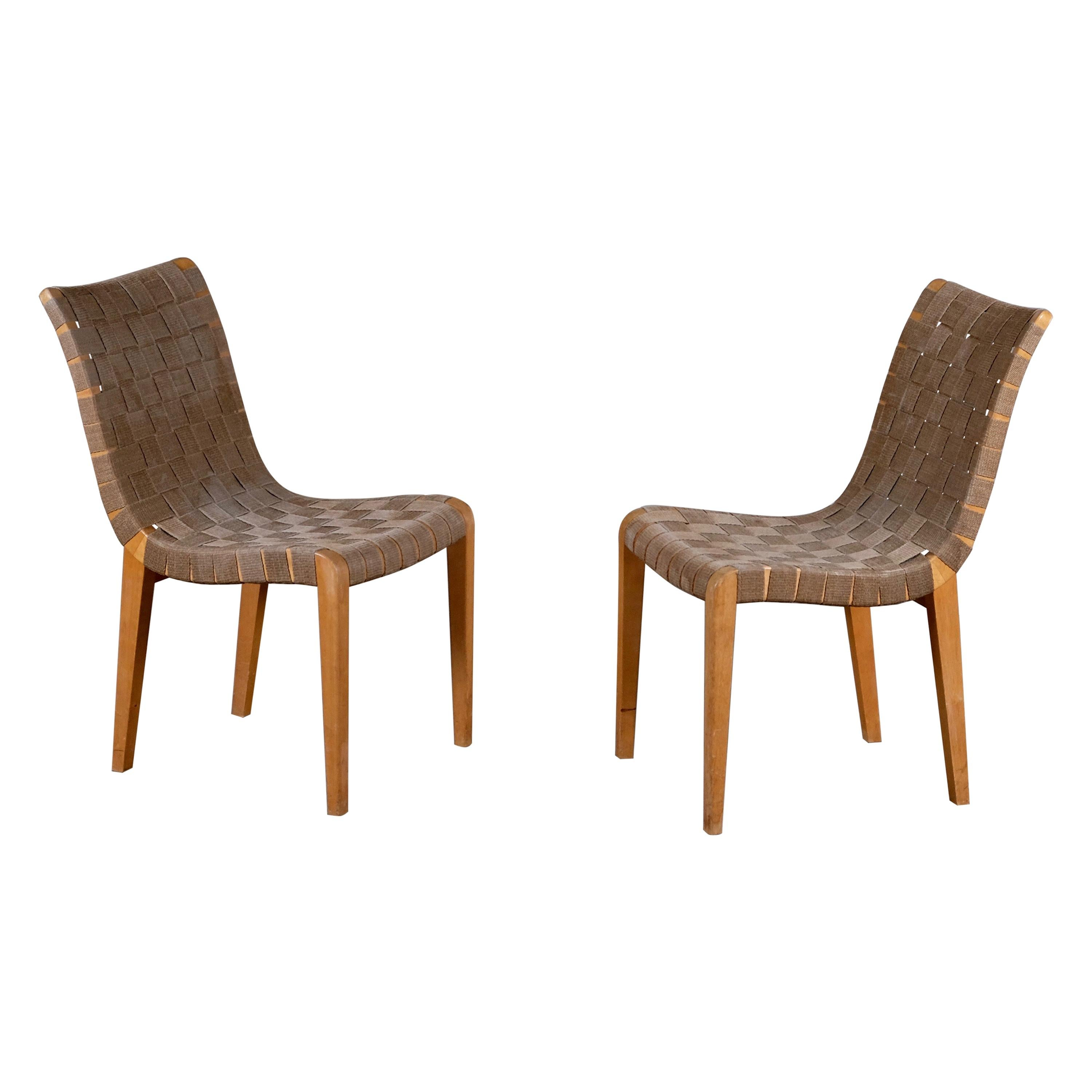 Pair of Axel Larsson Chairs by Bodafors, 1940s