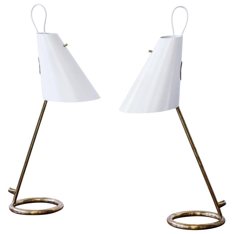 "Pair of ""B 90"" Table Lamps by Hans-Agne Jakobsson For Sale"