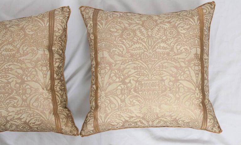 Italian Pair of B. Viz Design Antique Fortuny Pillows For Sale