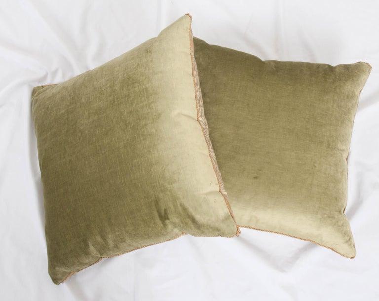 20th Century Pair of B. Viz Design Antique Fortuny Pillows For Sale