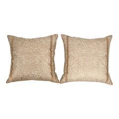 Pair of B. Viz Design Antique Fortuny Pillows