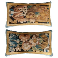 Pair of B. Viz Design Antique Tapestry Pillows
