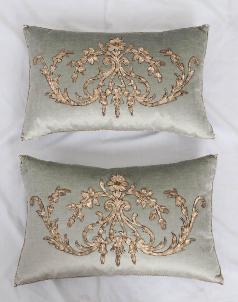 Turkish Pair of B. Viz Design Antique Textile Pillow