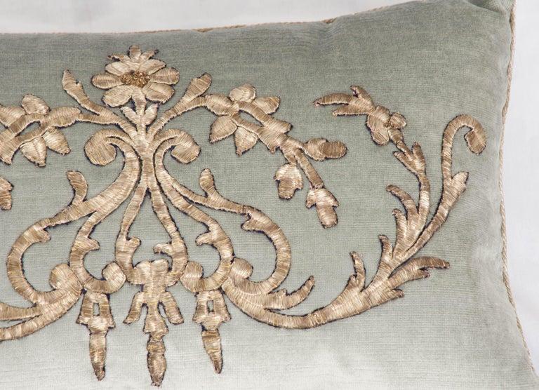 Gilt Pair of B. Viz Design Antique Textile Pillow