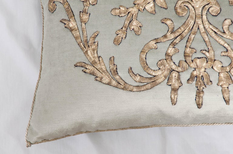 Pair of B. Viz Design Antique Textile Pillow In Good Condition In Baton Rouge, LA
