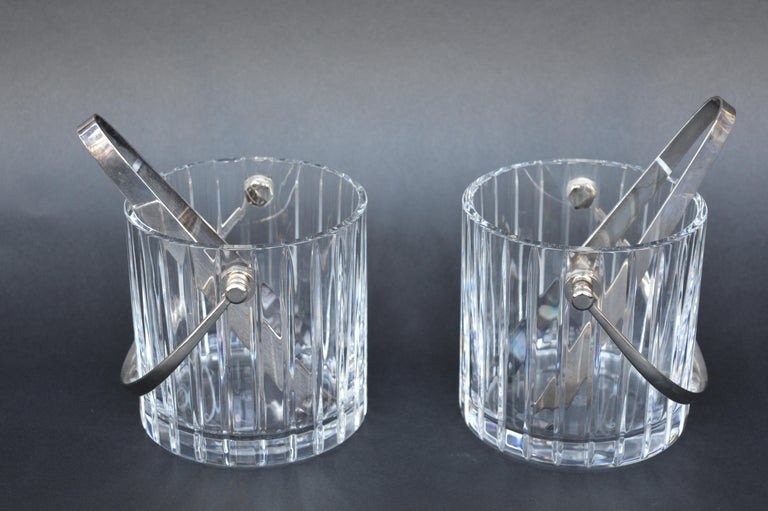 Pair of Baccarat Crystal Ice Buckets. France, 1990.