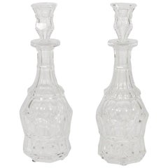 Pair of Baccarat Crystal Liquor Decanters