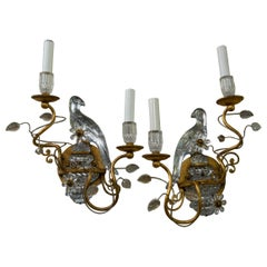 Pair of Bagues Style Parrot 2-Light Sconces