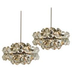 Pair of Bakalowits Diamond Chandeliers, Austria, 1960s