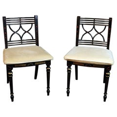 Pair of Baker Charleston Collection Regency Style Side Chairs