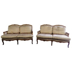 Pair of Baker Country French Settees