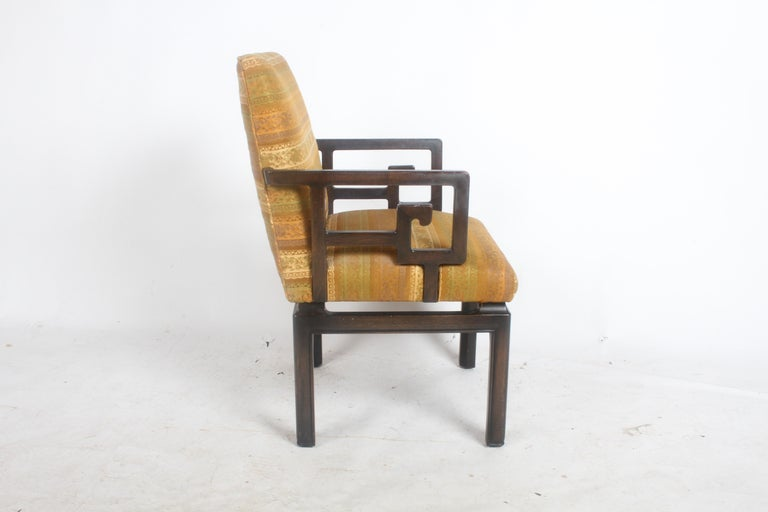 American Pair of Baker Far East Greek Key Dining or Occasional Chairs For Sale