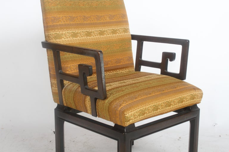 Pair of Baker Far East Greek Key Dining or Occasional Chairs In Good Condition For Sale In St. Louis, MO