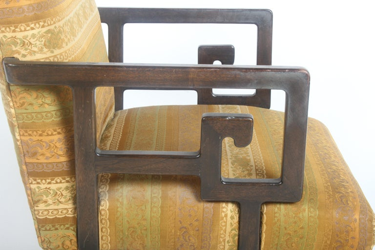 Mid-20th Century Pair of Baker Far East Greek Key Dining or Occasional Chairs For Sale