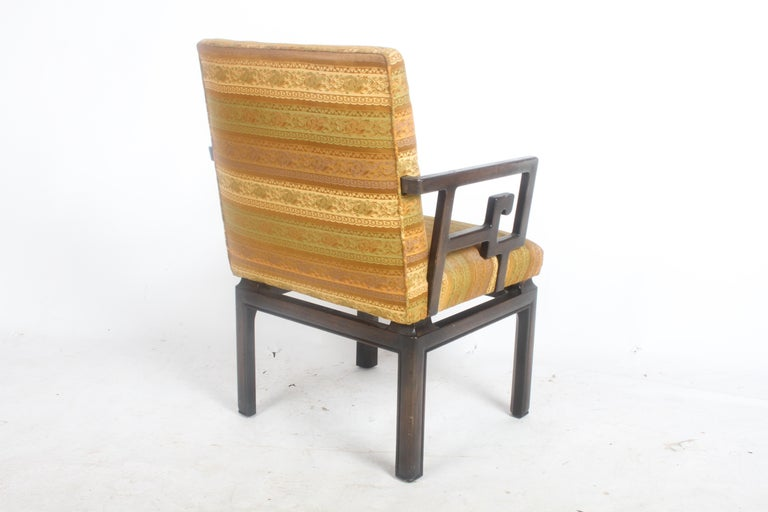 Pair of Baker Far East Greek Key Dining or Occasional Chairs For Sale 1