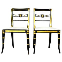 Pair of Baker Neoclassical Style Chairs