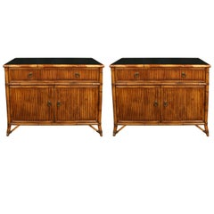 Pair of Baker Rattan Chests