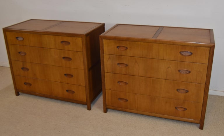 Pair Mid-Century Modern bachelor chests