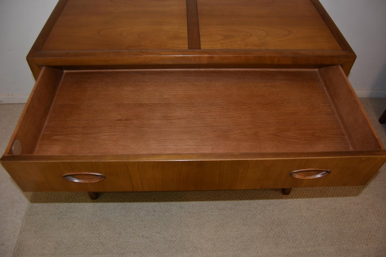 Pair of Baker Walnut Chests/Dressesr New World Collection Att. to Michael Taylor In Good Condition In Toledo, OH