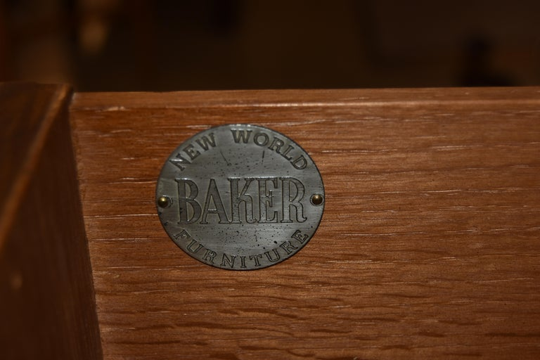 20th Century Pair of Baker Walnut Chests/Dressesr New World Collection Att. to Michael Taylor