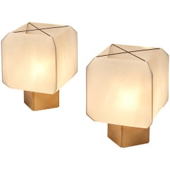 Pair of 'Bali' Table Lamps by Bruno Munari for Danese